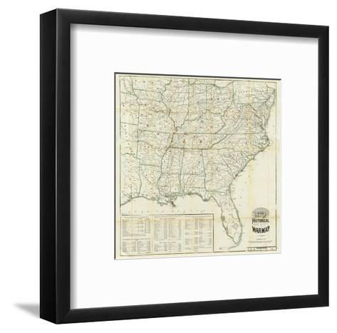 The United States Historical War Map, c.1862-Asher & Company-Framed Art Print