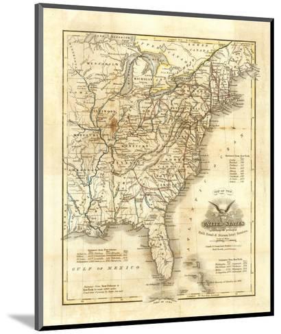 Map of The United States, c.1845-John Warner Barber-Mounted Art Print