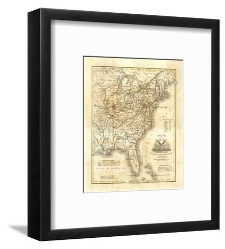 Map of The United States, c.1845-John Warner Barber-Framed Art Print