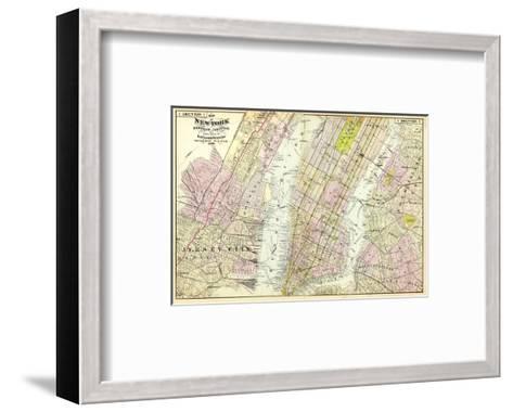 New York, Brooklyn, Jersey City, c.1891-Frederick W^ Beers-Framed Art Print