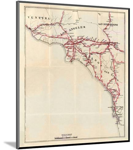 California: Ventura, Los Angeles, San Bernardino, Orange, and San Diego Counties, c.1896-George W^ Blum-Mounted Art Print