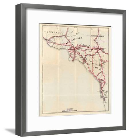 California: Ventura, Los Angeles, San Bernardino, Orange, and San Diego Counties, c.1896-George W^ Blum-Framed Art Print