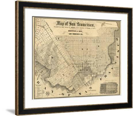 Map of San Francisco, c.1852-Britton & Rey-Framed Art Print