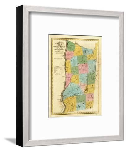 New York: Dutchess, Putnam Counties, c.1829-David H^ Burr-Framed Art Print