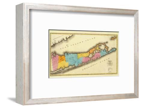 New York, Suffolk County, c.1829-David H^ Burr-Framed Art Print