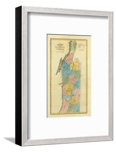 New York, Washington County, c.1829-David H^ Burr-Framed Art Print