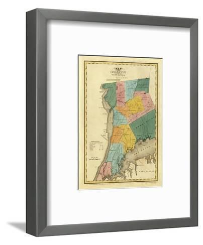 New York, Westchester County, c.1829-David H^ Burr-Framed Art Print