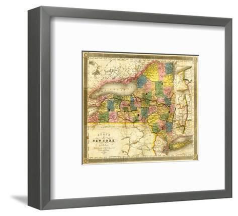 State of New York, c.1840-David H^ Burr-Framed Art Print