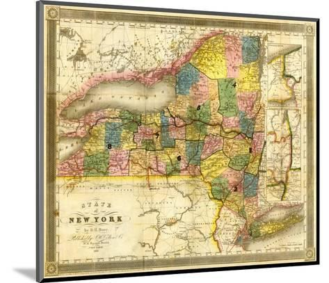 State of New York, c.1840-David H^ Burr-Mounted Art Print