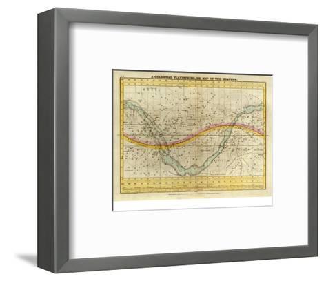 Celestial Planisphere, or Map of the Heavens, c.1835-Elijah H^ Burritt-Framed Art Print