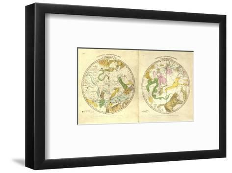 Circumpolar Map for each Month of the Year, c.1835-Elijah H^ Burritt-Framed Art Print