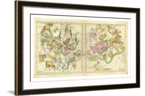 The Constellations in April - September, c.1835-Elijah H^ Burritt-Framed Art Print