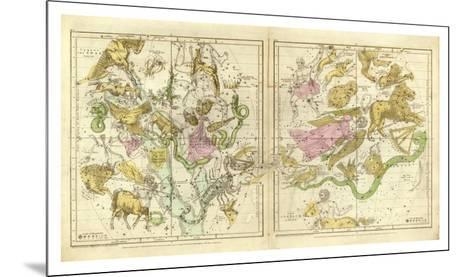 The Constellations in April - September, c.1835-Elijah H^ Burritt-Mounted Art Print