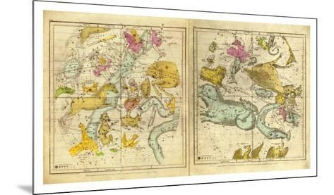 The Constellations in October - March, c.1835-Elijah H^ Burritt-Mounted Art Print
