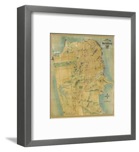 The Chevalier Map of San Francisco, c.1911-August Chevalier-Framed Art Print