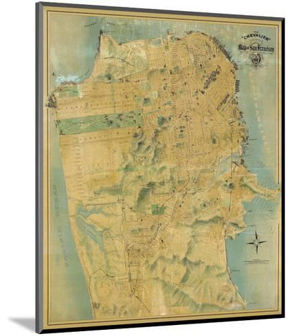 The Chevalier Map of San Francisco, c.1911-August Chevalier-Mounted Art Print