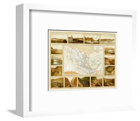 Vias de Comunicacion y Movimiento Maritimo, c.1885-Antonio Garcia Cubas-Framed Art Print