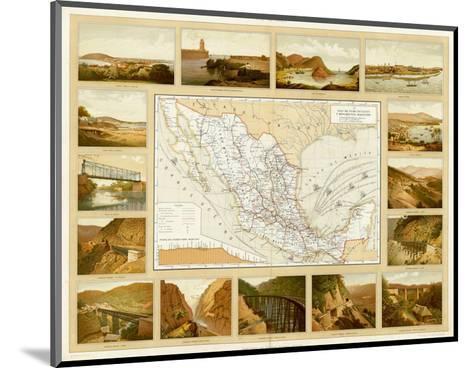 Vias de Comunicacion y Movimiento Maritimo, c.1885-Antonio Garcia Cubas-Mounted Art Print
