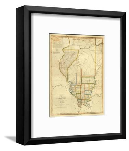 Map of Illinois, c.1820-John Melish-Framed Art Print