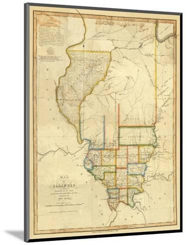 Map of Illinois, c.1820-John Melish-Mounted Art Print