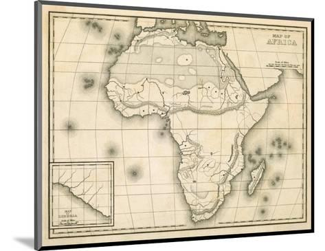 Map of Africa, c.1839-Samuel Augustus Mitchell-Mounted Art Print