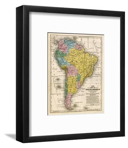 Map of South America, c.1839-Samuel Augustus Mitchell-Framed Art Print