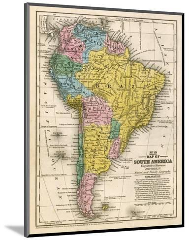 Map of South America, c.1839-Samuel Augustus Mitchell-Mounted Art Print