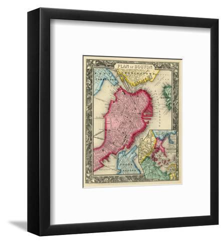 Plan of Boston, c.1860-Samuel Augustus Mitchell-Framed Art Print