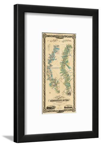 Chart of The Lower Mississippi River, c.1858-B^ M^ Norman-Framed Art Print