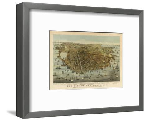 San Francisco Birds Eye View, c.1878-Charles R^ Parsons-Framed Art Print