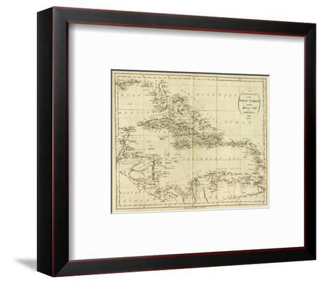 Map of the West Indies, c.1796-John Reid-Framed Art Print