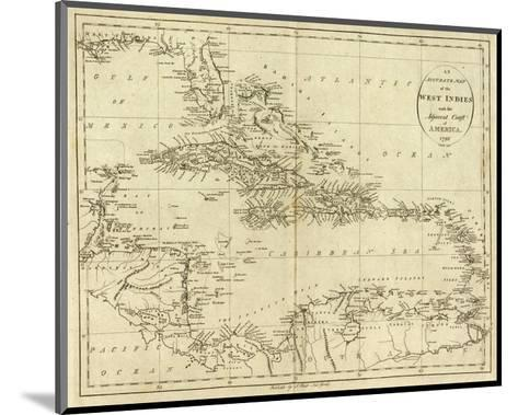 Map of the West Indies, c.1796-John Reid-Mounted Art Print