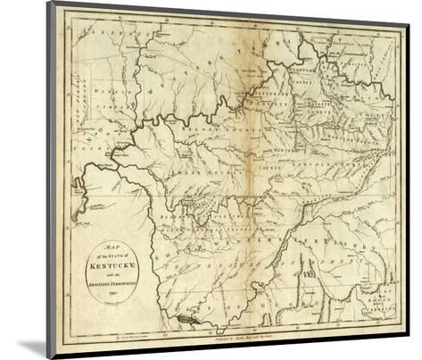 State of Kentucky, c.1796-John Reid-Mounted Art Print
