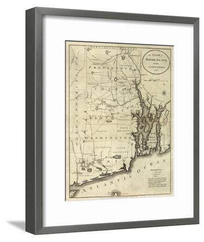 State of Rhode Island, c.1796-John Reid-Framed Art Print