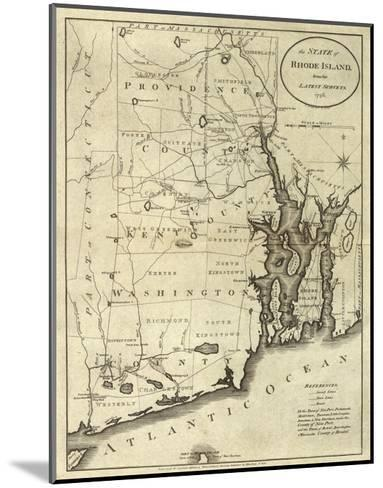 State of Rhode Island, c.1796-John Reid-Mounted Art Print