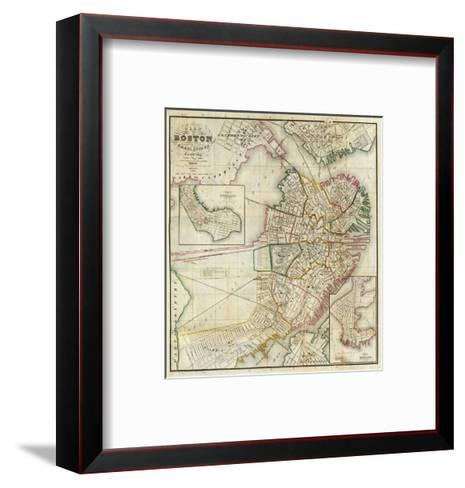 Plan of Boston Comprising a Part of Charlestown and Cambridge, c.1846-George G^ Smith-Framed Art Print