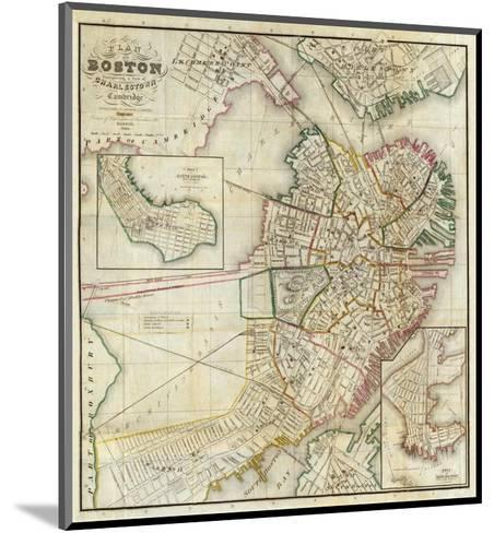 Plan of Boston Comprising a Part of Charlestown and Cambridge, c.1846-George G^ Smith-Mounted Art Print