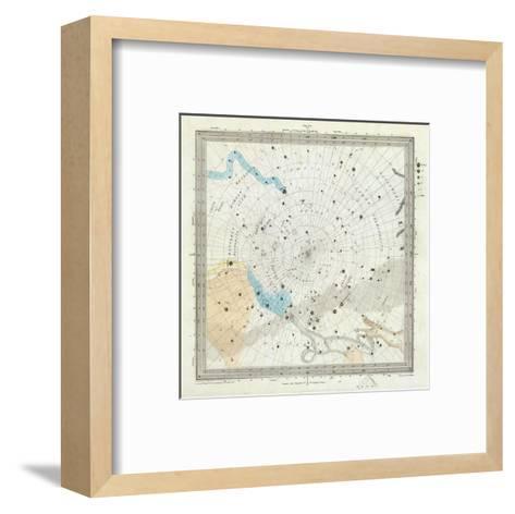 Celestial Anno 1830: No. 6. Circumjacent the South Pole, c.1844--Framed Art Print