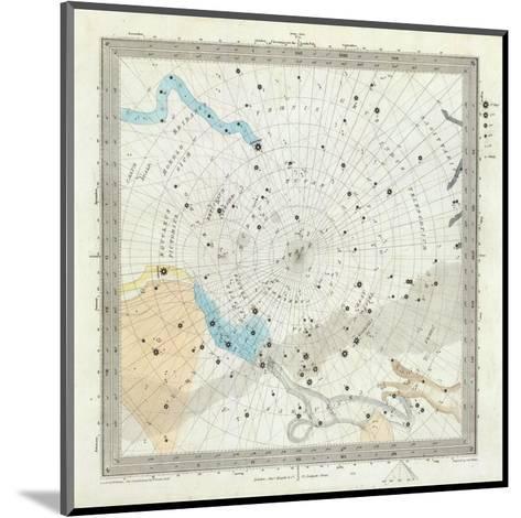 Celestial Anno 1830: No. 6. Circumjacent the South Pole, c.1844--Mounted Art Print