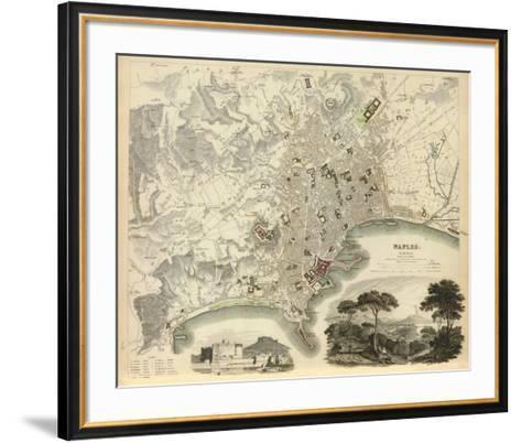 Naples, Italy, c.1835--Framed Art Print