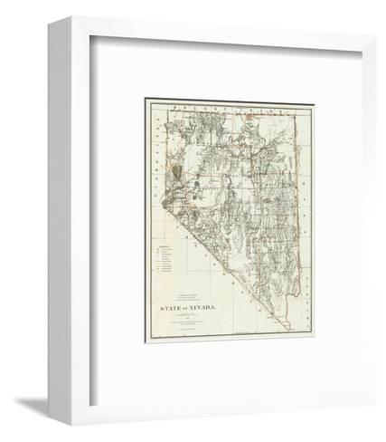 State of Nevada, c.1879--Framed Art Print