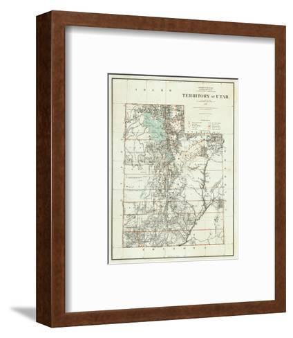 Territory of Utah, c.1879--Framed Art Print
