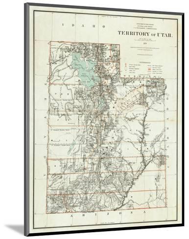 Territory of Utah, c.1879--Mounted Art Print
