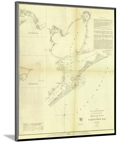 Galveston Bay, Texas, c.1852--Mounted Art Print
