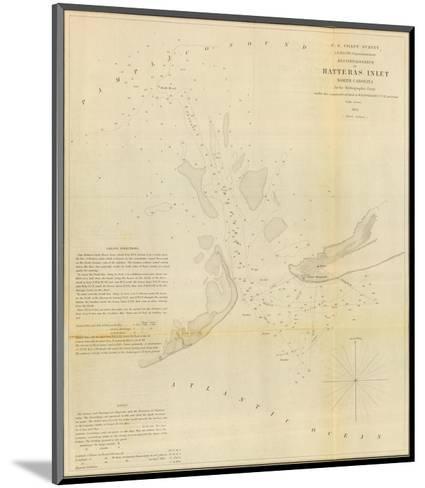 Hatteras Inlet, North Carolina, c.1853--Mounted Art Print