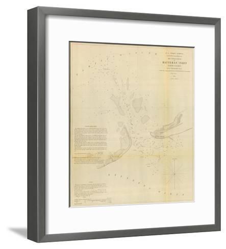 Hatteras Inlet, North Carolina, c.1853--Framed Art Print