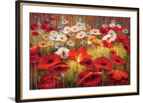 Meadow Poppies II-Lucas Santini-Framed Art Print