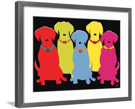 Five Labs-Jim Williams-Framed Art Print