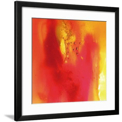 Red and Orange Swirling Abstract, c.2008-Pier Mahieu-Framed Art Print