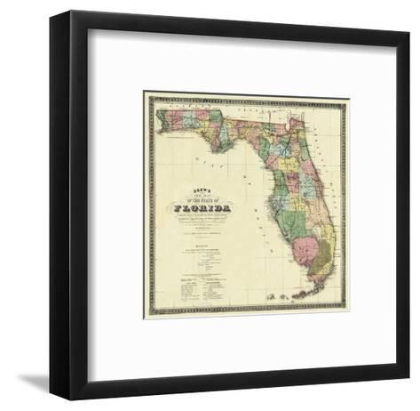 New Map of the State of Florida, c.1870-Columbus Drew-Framed Art Print